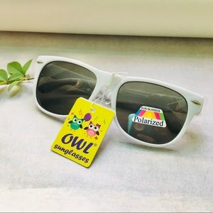 LP NWT Kids White Frame Sunglasses Polarized